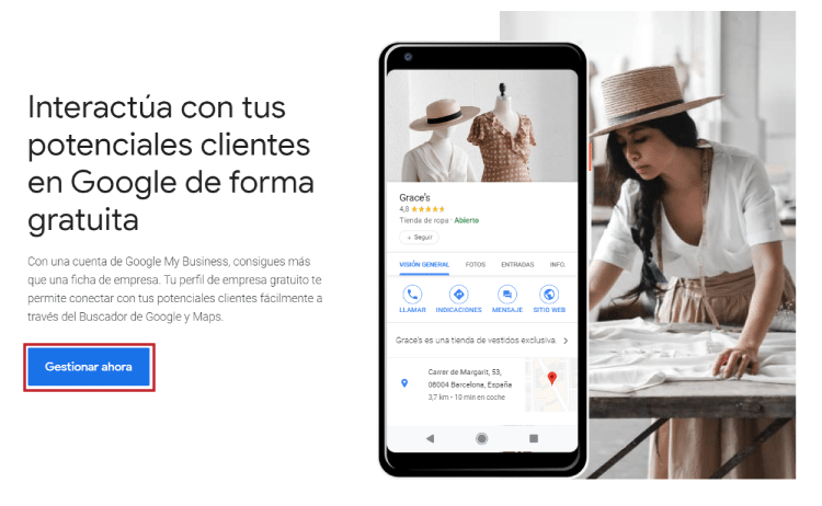 Acceder a Google My Business